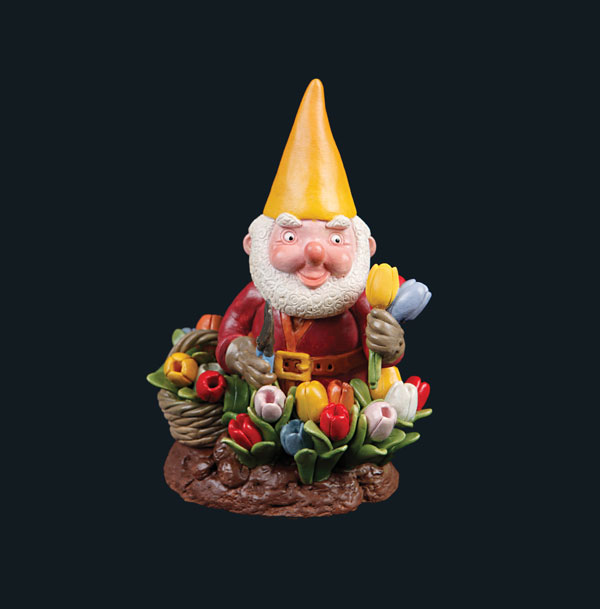 Gnome Grows Flowers