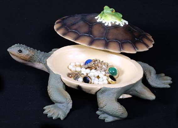 Turtle & Frog Treasure Box