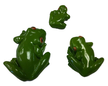 Green Climbing Frogs Set (6048,49,50)