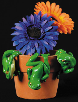 Hanging Pot Frogs Set