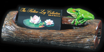 One Frog on a Log - Business Card Holder