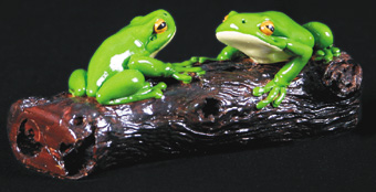Two Frogs on a Log