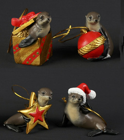 Christmas Decorations Seals - Set of 4