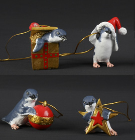 Christmas Decorations Penguins - Set of 4