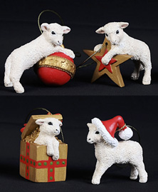 Christmas Decorations Lambs - Set of 4