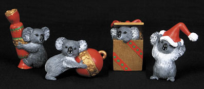 Christmas Decorations Koalas - Set of 4
