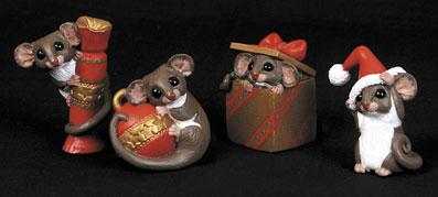 Christmas Decorations Possums - Set of 4