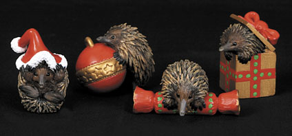 Christmas Decorations Echidnas - Set of 4
