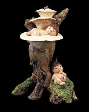 Pod Babies on White Mushroom