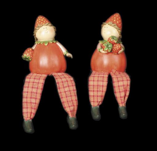 Strawberry Girls Swinging Legs (Pair)
