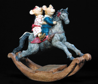 Country Mice - Rocking Horse