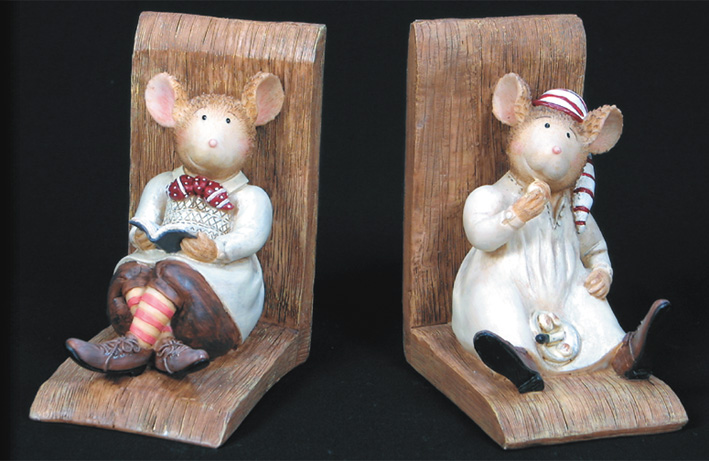 Country Mice - Book Ends