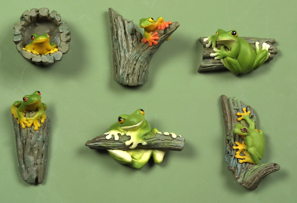 Frogs on Branches - Magnets