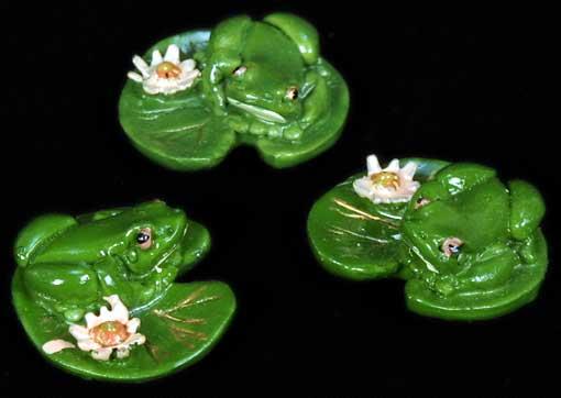 Lotus Lily & Frog. Set of 3